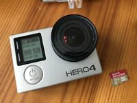 GoPro Hero4 Silver + Accessories + 5 Batteries