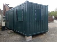 Modified Office 20ft x 8ft Shipping Container with Built-In Electrics