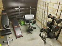 Dumbbells, Weights, bars, benches
