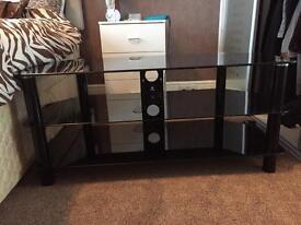 Black corner glass tv unit/ stand