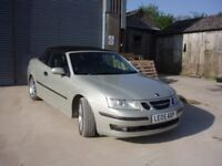 Sunny days ! Time for a convertible...Saab Convertible 9-3 2.0T Silver Vector automatic