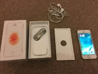 iphone SE 16 gb gold unlocked fully working excellent condition with box and accessories