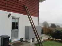 Timber Extending Ladder.