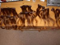 Hair Extensions Brown, Pack