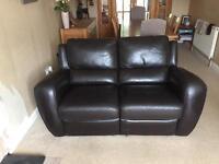 Italian leather two setter sofa