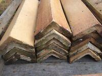 Reclaimed fire clay ridge tiles buff colour