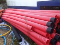 6 Metre 150mm Twinwall Unperforated Electric Duct Pipe