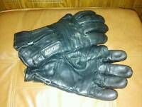 Men's Sportex leather bike gloves.