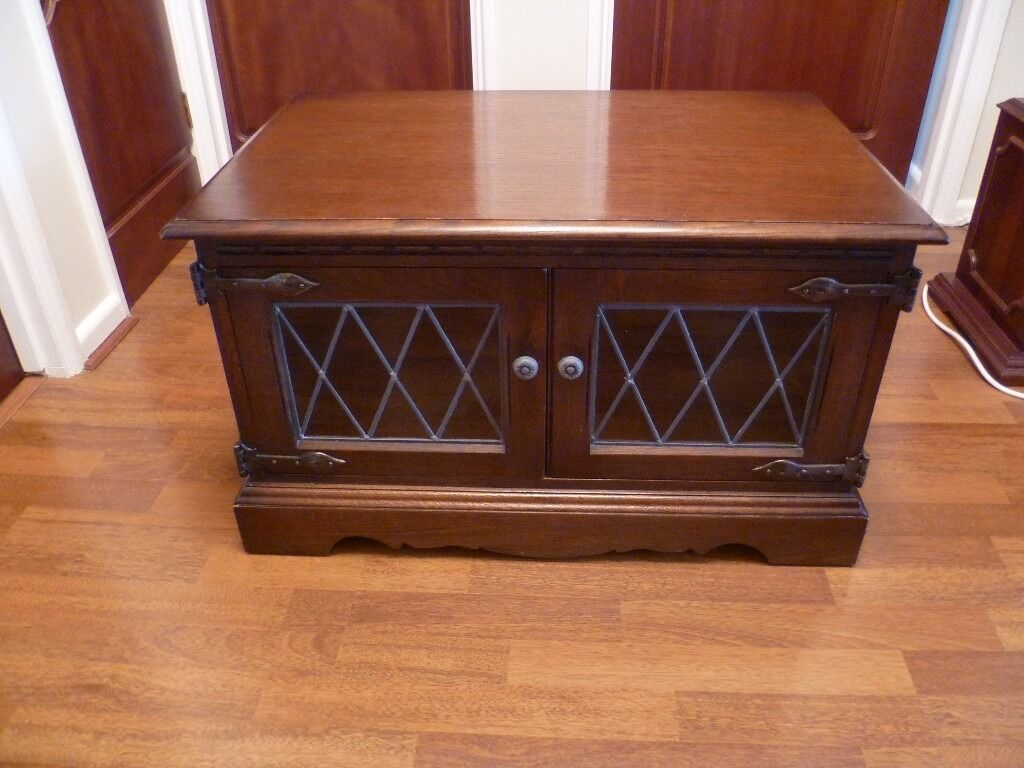 Old Charm Television Cabinetin Tower Hamlets, LondonGumtree - Old Charm Television Cabinet in solid dark oak wood with two leaded glass doors. The cabinet is in very good condition. Dimensions Height 18 inches x Width 30 x Depth 19