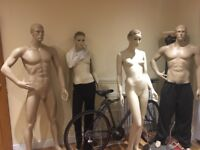 Mannequins x 4 life size full body 2M + 2F