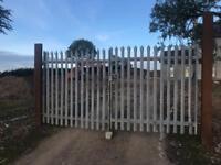 Security yard gates