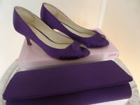 Purple Shoes and Matching Clutch