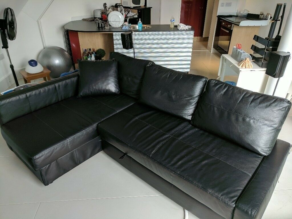 Pleasing Corner Sofa Bed With Storage Ikea Friheten Bomstad Black In Crowthorne Berkshire Gumtree Onthecornerstone Fun Painted Chair Ideas Images Onthecornerstoneorg