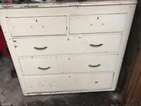 Bargain very old sold wood pine chest Drowers