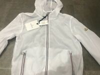 Moncler Shell Windbreaker Jacket Small to Medium White