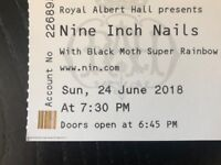 1x Nine Inch Nails standing ticket (Arena) Royal Albert Hall Sunday 24/06/18