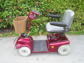 SHOPRIDER DELUXE mobility scooter , 21 stone / 4mph