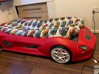 Racing Car Bed With Headlights