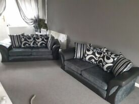 """🎀Elegant Style New🎀SHANNON FABRIC 3+2 Seater AND CORNER Sofa""""🎀 Available in Stock!🎀"""