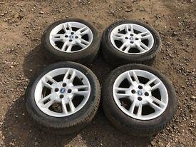 "Fiat punto 15"" alloy wheels - good tyres"