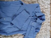 "Men's Next shirt is slim fit I think blue size14. 5""collar.vgc"