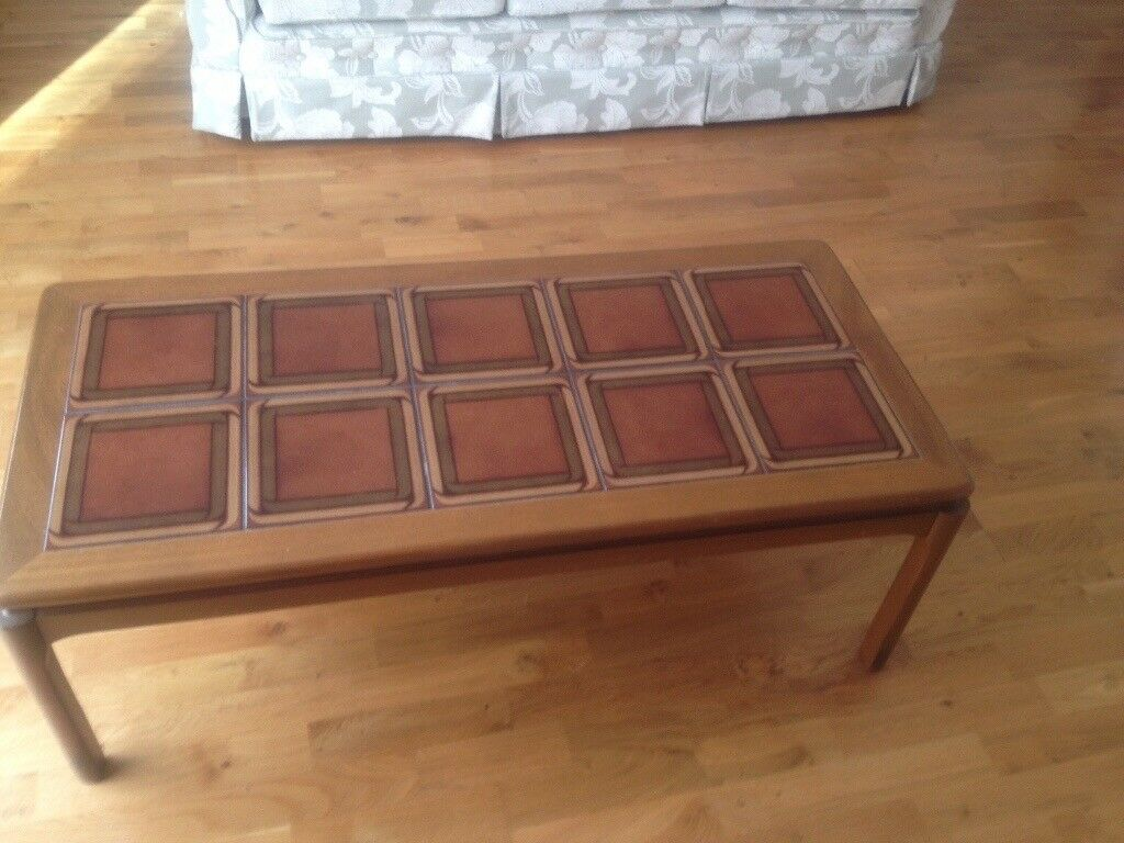 Tiled rectangular coffee table