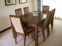 STAG DINNING ROOM SUITE / EXTENDING TABLE / 6 CHAIRS / GLAZED DISPLAY CABINET / SIDEBOARD