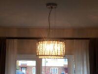 2 sets of Ceiling Lights (glass droplets)