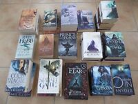 40 Fantasy and Sci-Fi paperback books for sale – All good condition no pages missing