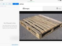 Free pallets wanted