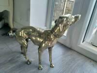 A very rare artdeco brass dog