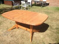 Extendable pine dining table