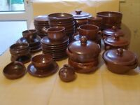 Dinner Service from Vallauris, France, Felix Ceram pottery 60+ pieces