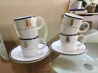 White ceramic cups