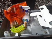 Hamster cage and bits