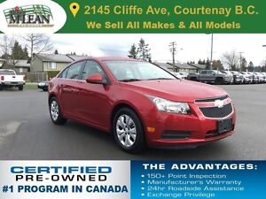 2012 Chevrolet Cruze LT Turbo 1 Owner No Accidents