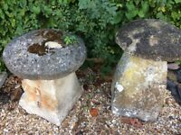 PAIR OF STADDLE STONES