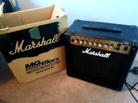 Marshall MG15 DFX amp as new boxed