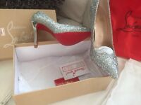 Ladies glitter high shoes size 4 1/2