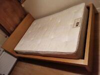 Cheap IKEA Malm Double Bed Frame (Oak Veneer) & mattress included