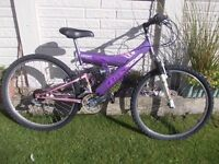 MOUNTAIN BIKE LIGHTWEIGHT DUAL SUSPENSION **must go this weekend**