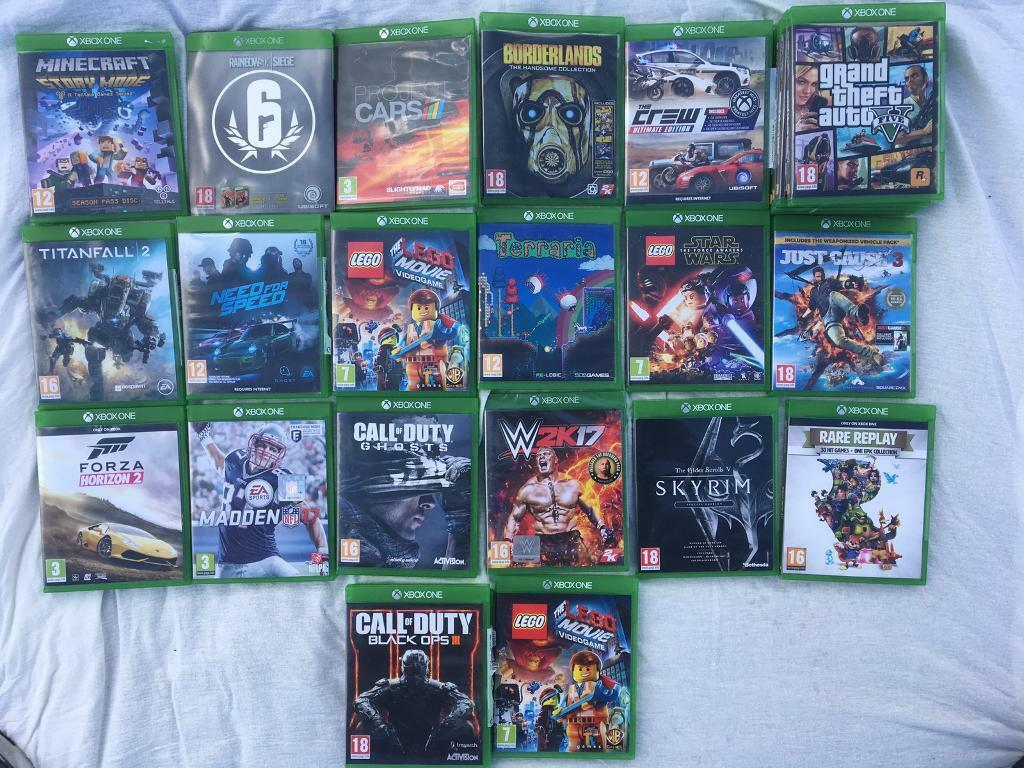 Cheap bundle of Xbox one gamesin Hinckley, LeicestershireGumtree - Titan fall 2 £25Need for speed £20Black ops 3 £20Fifa 17 £25Madden 17 £25Elder scrolls skyrim special edition £25Wk2017 (brand new still sealed) £25GTA 5 £25Call of duty advanced warfare £15 Borderlands £15Just cause 3 £15Project cars...