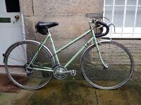 Ladies retro peugeot touring bike