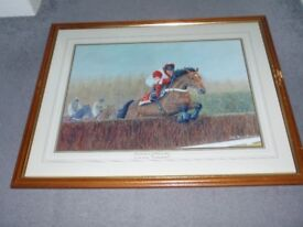 Framed Race Horse Picture - Viking Flagship ridden by Adrian McGuire