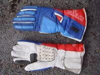 motorcycle gloves, padded foe cold weather, size medium