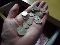 Fourteen nice examples genuine old Cuban silver coins, ( actual silver ) Cuba. COLLECTION SWINDON.