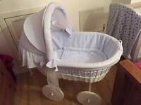 Baby blue Leipold crib