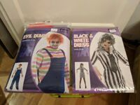 Two fancy dress costumes (Chucky and lady Beetle Juice)
