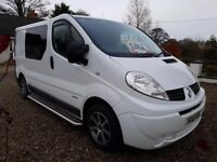 Renault Traffic Eco Camper 2011 Conversion sleeps 2, Full width double bed