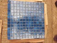 Dark blue mosaic tiles- 32 sheets